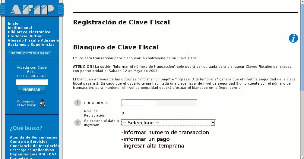 clave fiscal monotributo