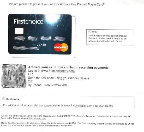 Tarjeta FirstChoice