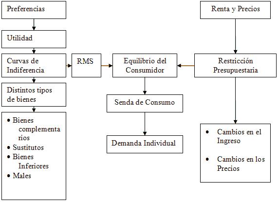 mapa teoría del consumidor